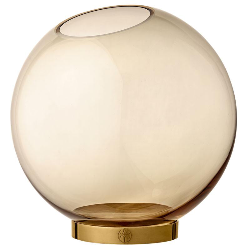 AYTM Globe Vase Amber/Gold Ø 17 cm
