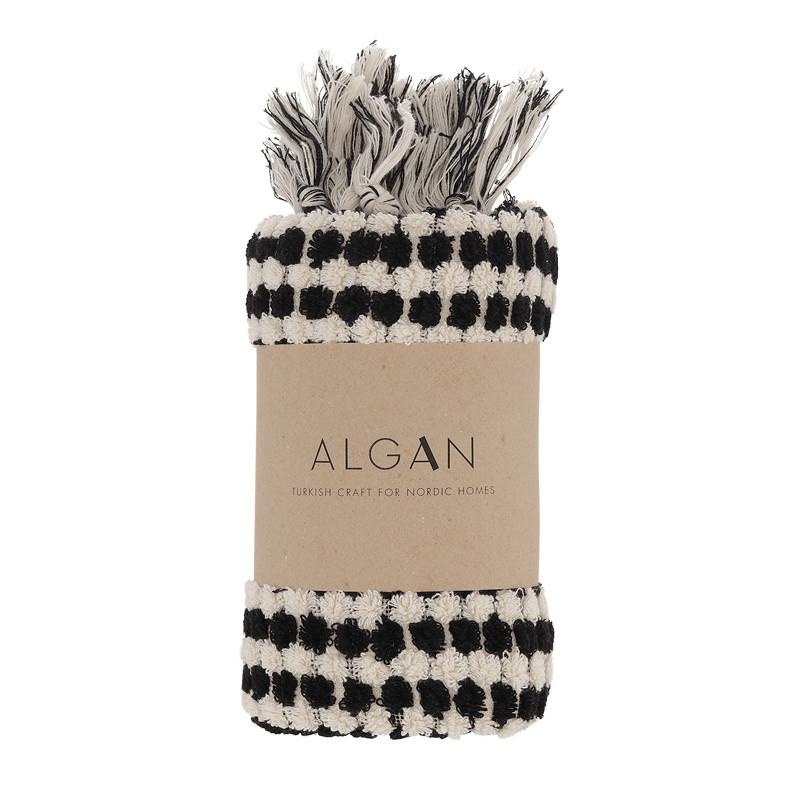 Algan Ahududu Gæstehåndklæde Sort