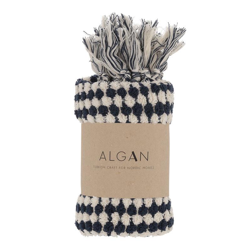 Algan Ahududu Gæstehåndklæde Navy