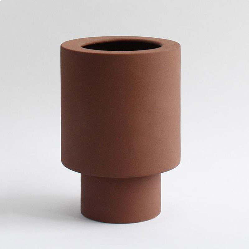 Ania ANNA Vase Burned Brown Engobe