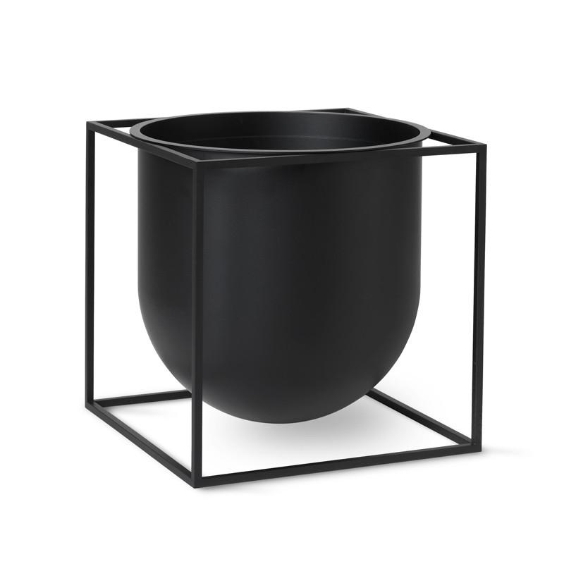 By Lassen Kubus Flowerpot 23 Black
