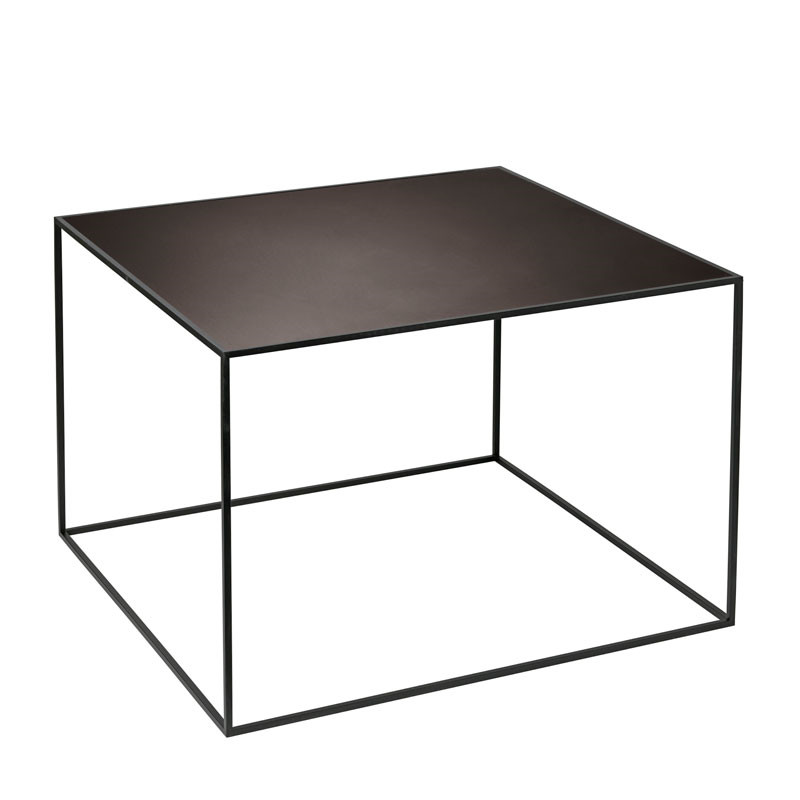 By Lassen Twin Table 49 black stained ash/burnished copper