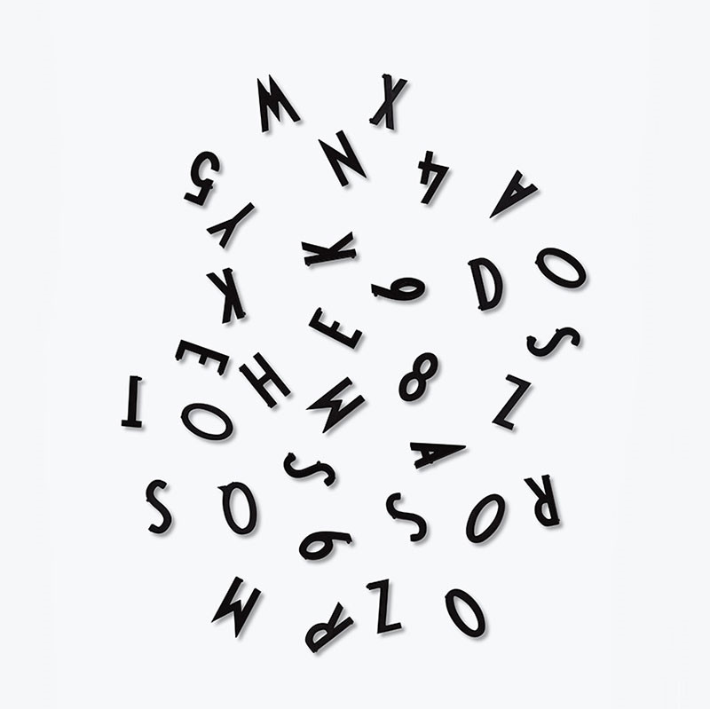 Design Letters Letter Box Small Black