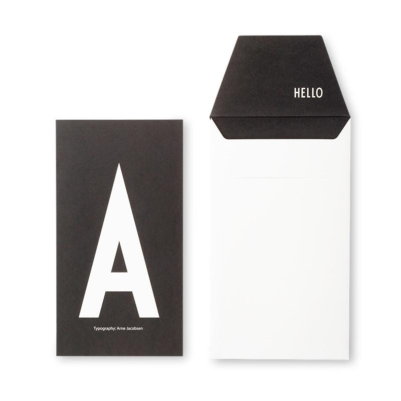Design Letters AJ Greeting Card