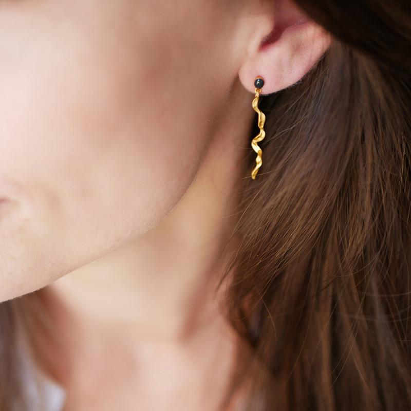 Enamel Copenhagen Muna Earrings Gold-Plated