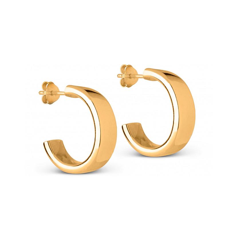 Enamel Copenhagen Thora Hoops Gold-Plated