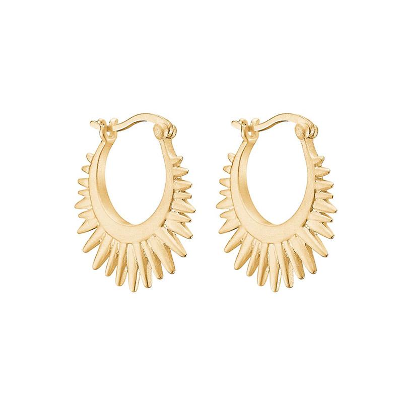 Enamel Copenhagen Sunrays Earrings Gold-Plated