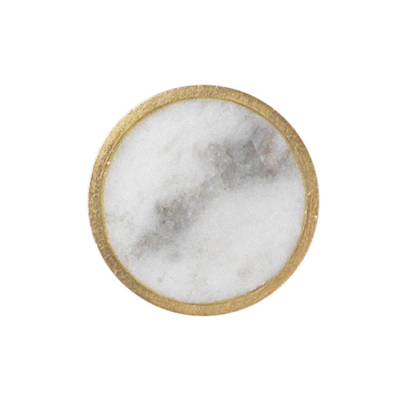 Ferm Living Stone Hook White Marble Small