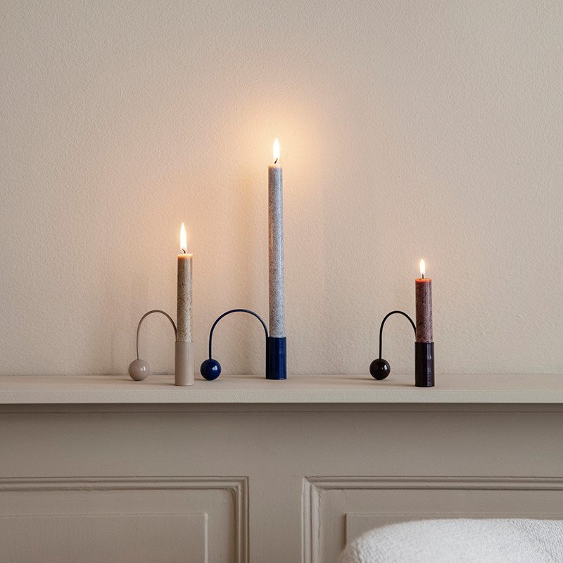 Ferm Living Balance Candle Holder Dark Aubergine