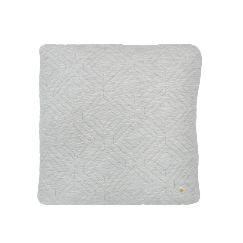 Ferm Living Quilt Cushion Light Grey 45 x 45