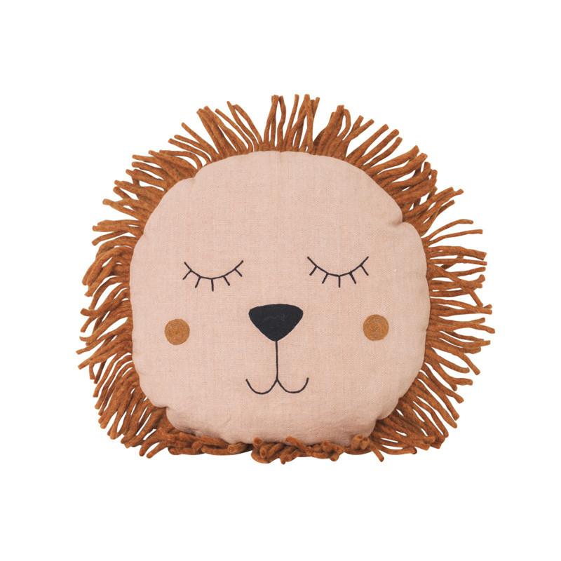 Ferm Living Safari Lion Cushion Rose