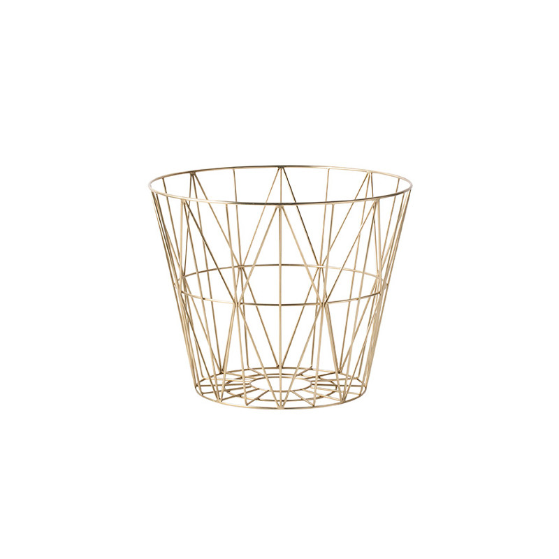 Ferm Living Wire Basket Brass