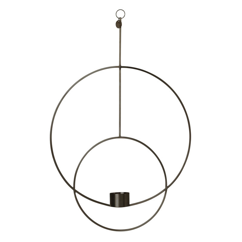 Ferm Living Hanging Tealight Deco Circular Black