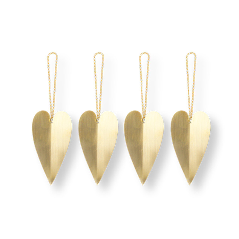 Ferm Living Heart Brass Ornamenter
