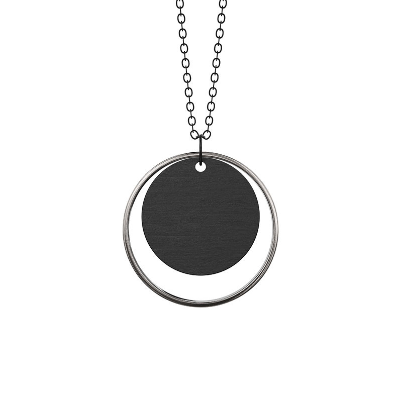 Grundled Adverbium Necklace Silver
