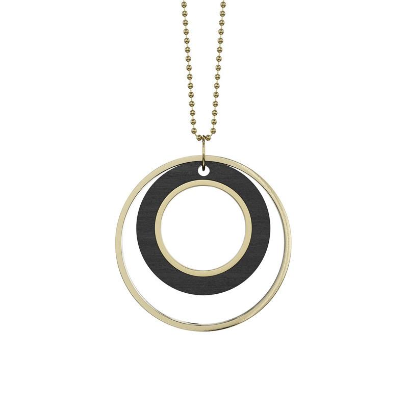 Grundled Tempus Necklace Black
