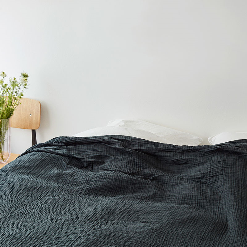 HAY Crinkle Bedspread Anthracite