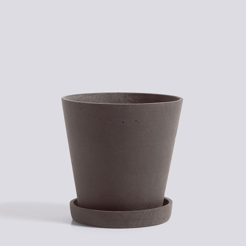 HAY Flowerpot With Saucer M Plum