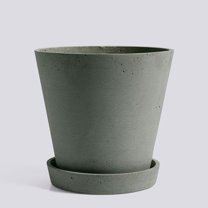 HAY Flowerpot With Saucer XL Green