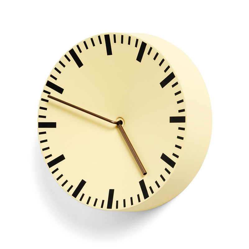 HAY Analog Clock Light Yellow