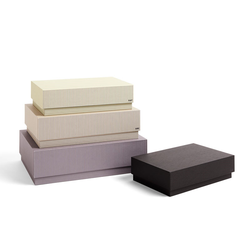 HAY Box Box Desktop Set of 4 Stripe Grey