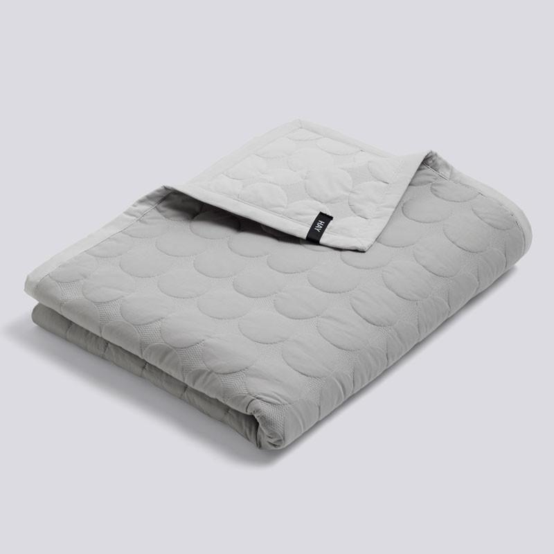 HAY Mega Dot Bed Cover Light Grey 195 x 245 cm