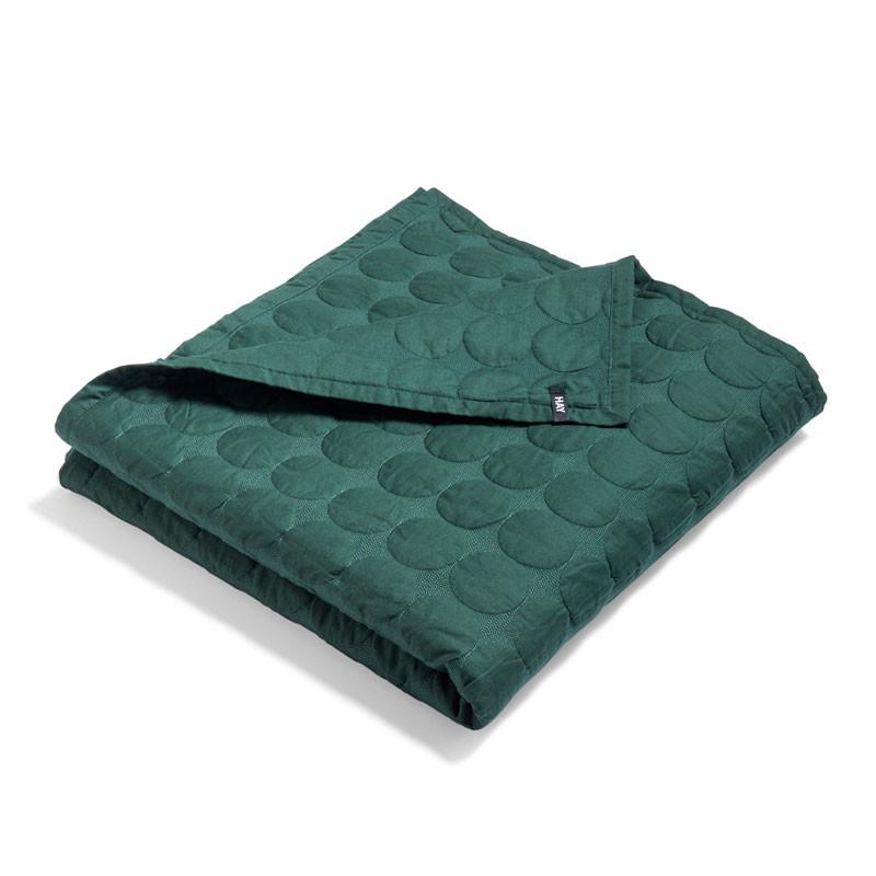 HAY Mega Dot Bed Cover Dark Green 235 x 245 cm