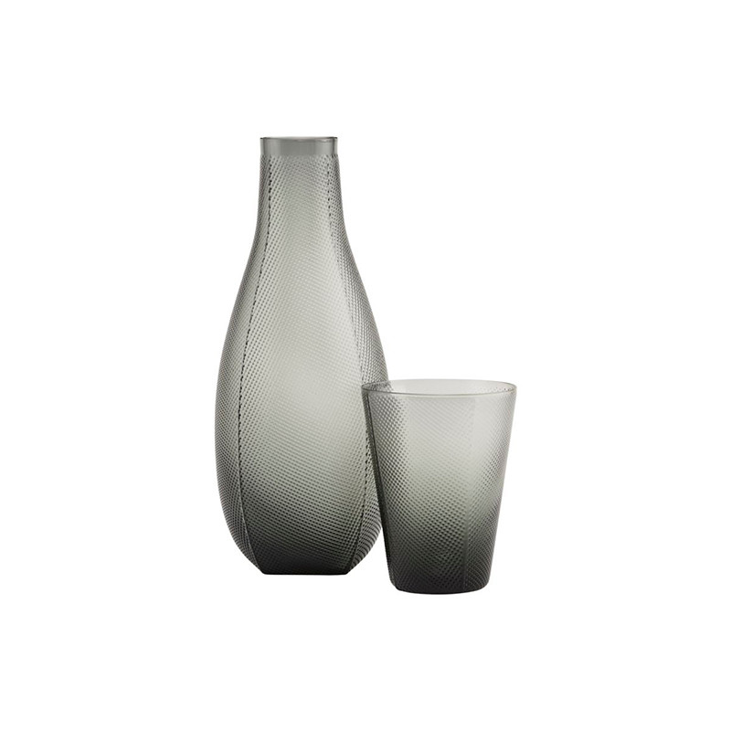 House Doctor Milo Carafe With Glass Smoked Grey