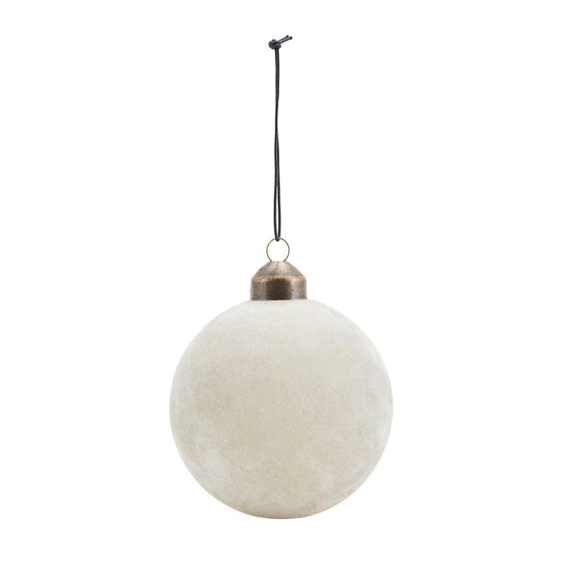 House Doctor Flock Ornament Grey Ø 8 cm