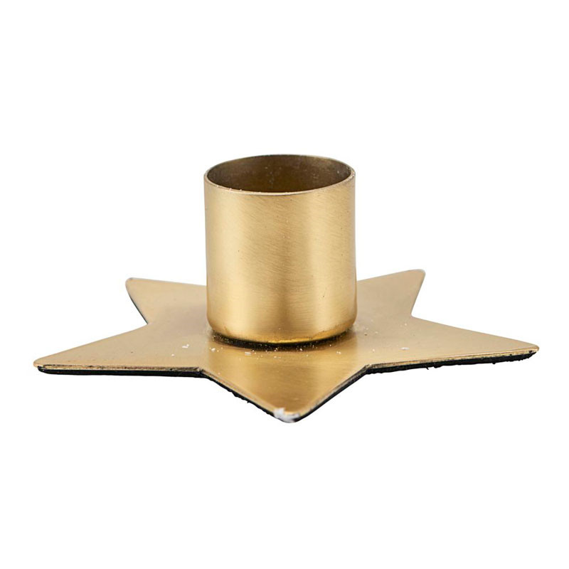 House Doctor Star Candle Stand Brass Finish Ø 7,5 cm