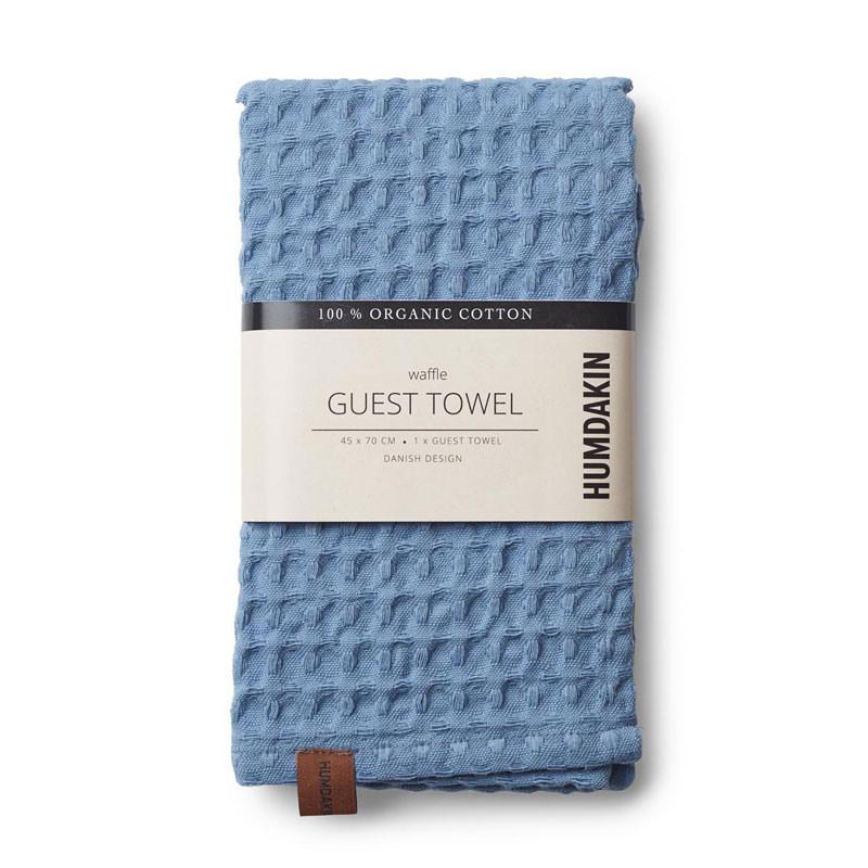 Humdakin Waffle Guest Towel Light Blue