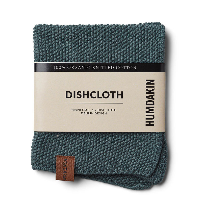 Humdakin Knitted Dishcloth Green Seaweed
