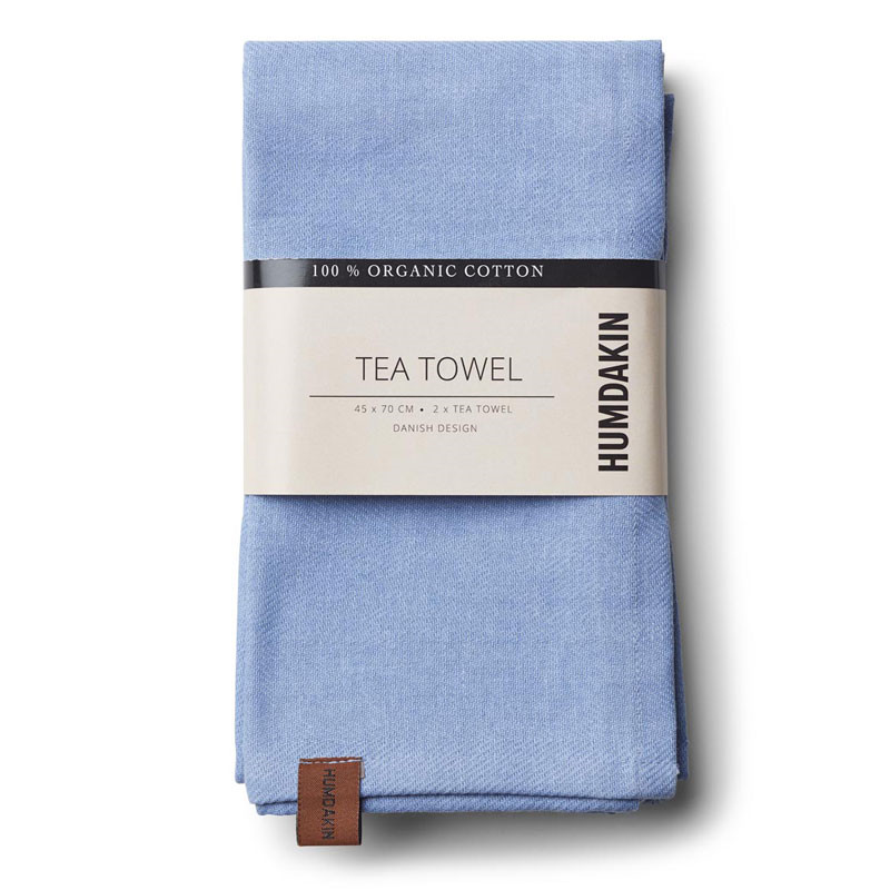 Humdakin Organic Tea Towel Light Blue