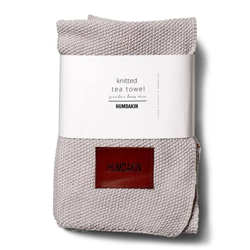 Humdakin Knitted Kitchen Tea Towels 3-Pack Purple Flower