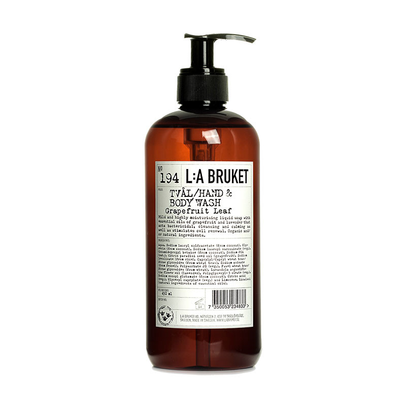 L:A Bruket Liquid Soap Grapefruit Leaf 450 Ml
