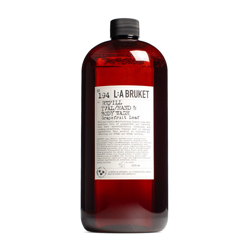 L:A Bruket Hand & Body Wash Grapefruit Leaf Refill