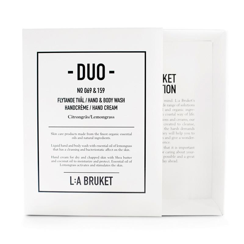 L:A Bruket Duo Kit Soap & Handcreme Lemongrass