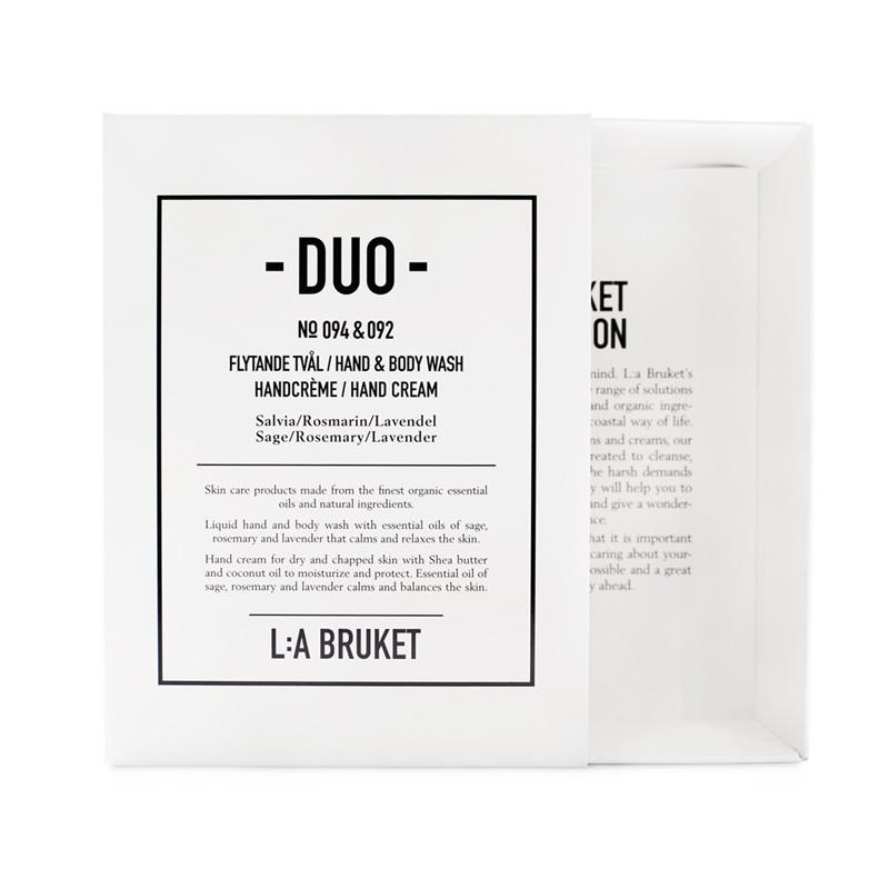 L:A Bruket Duo Kit Soap & Handcreme Salvie, Rosmarin & Lavendel