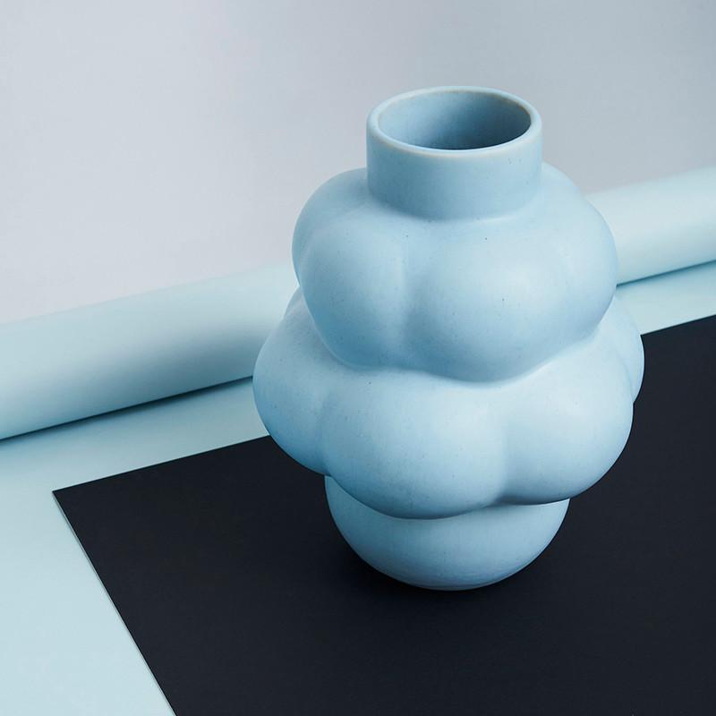 Louise Roe Balloon Vase 04 Ceramic Sky Blue