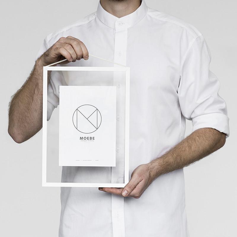 Moebe White Frame A4