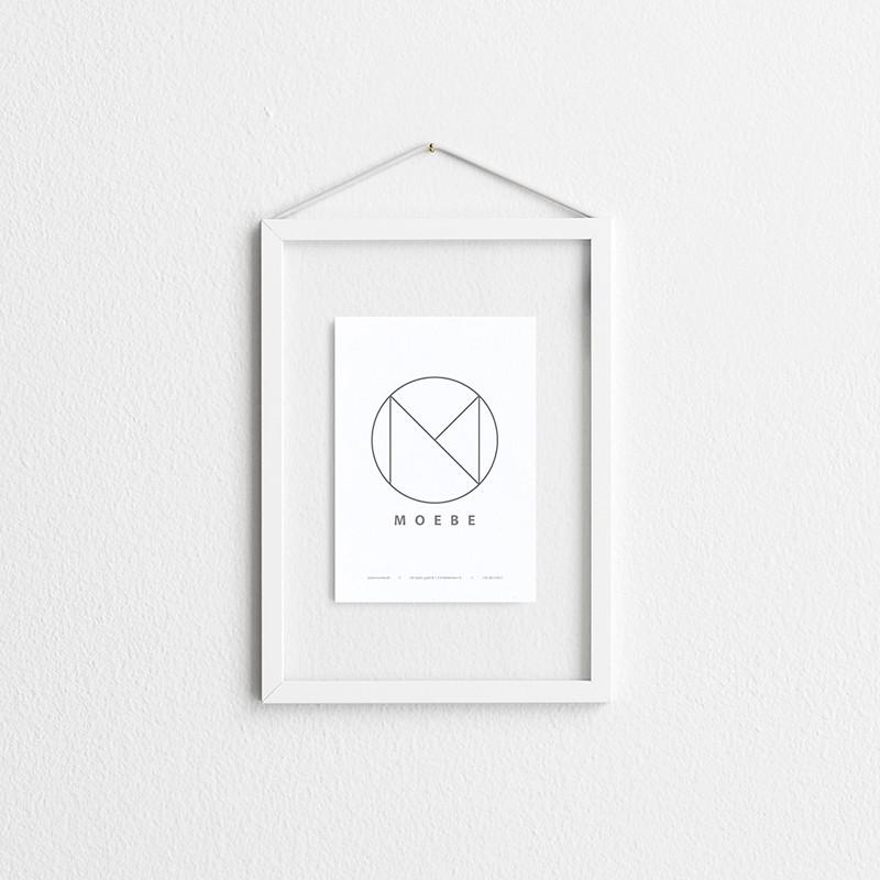Moebe White Frame A5
