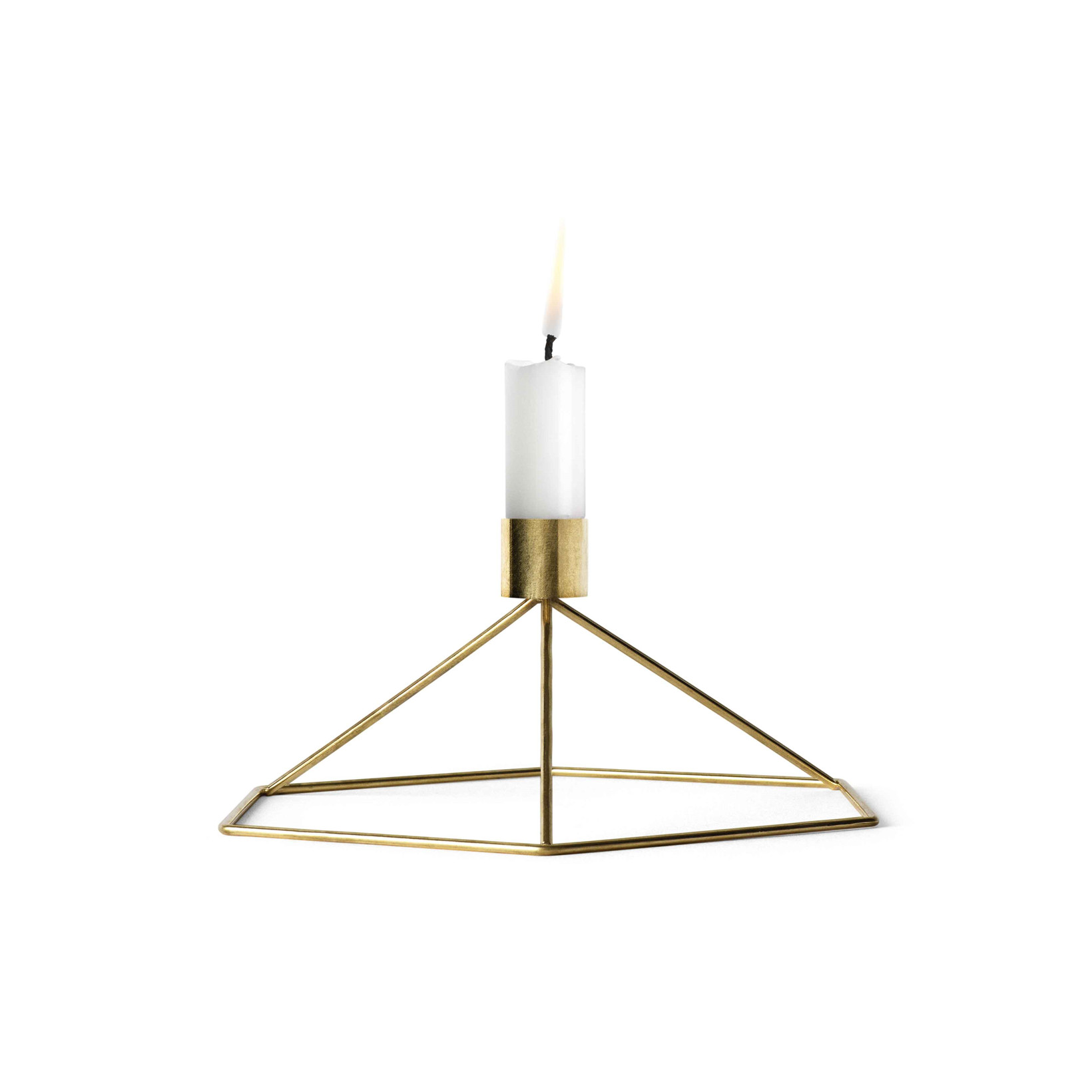 Menu POV Candleholder Table Brass