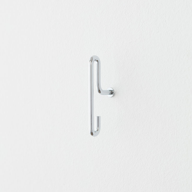 Moebe Wall Hook Small Chrome 2-pak