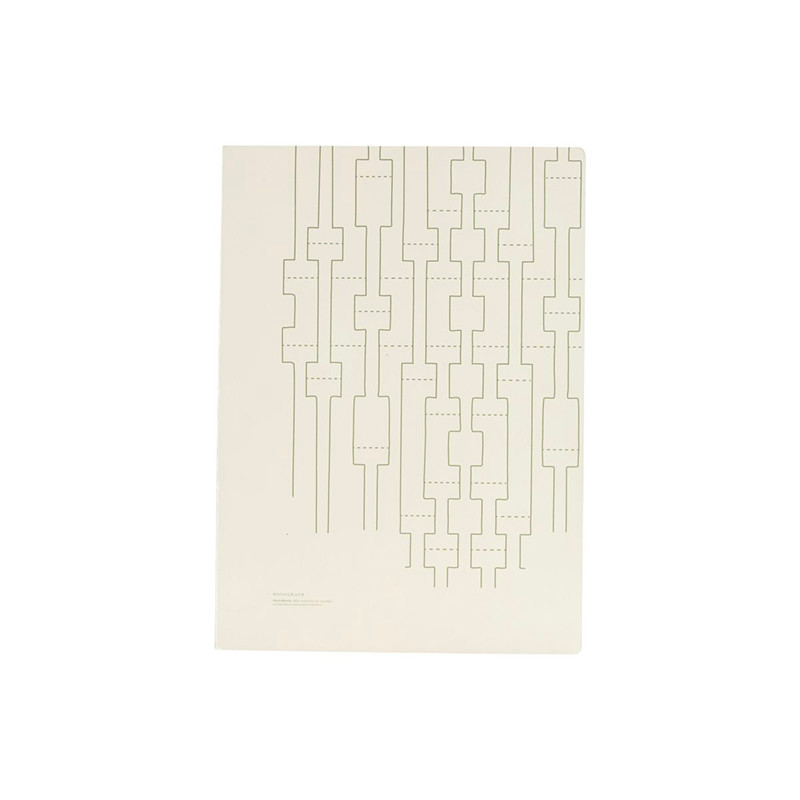 Monograph Note Book Geometric Ecru