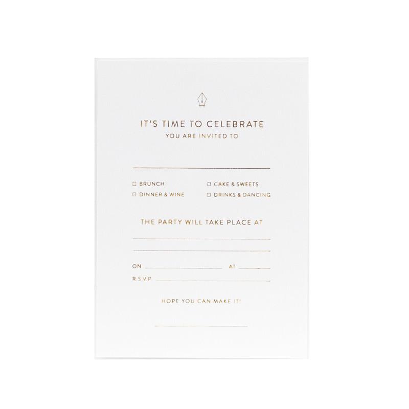 Monograph Invitation Note Cards