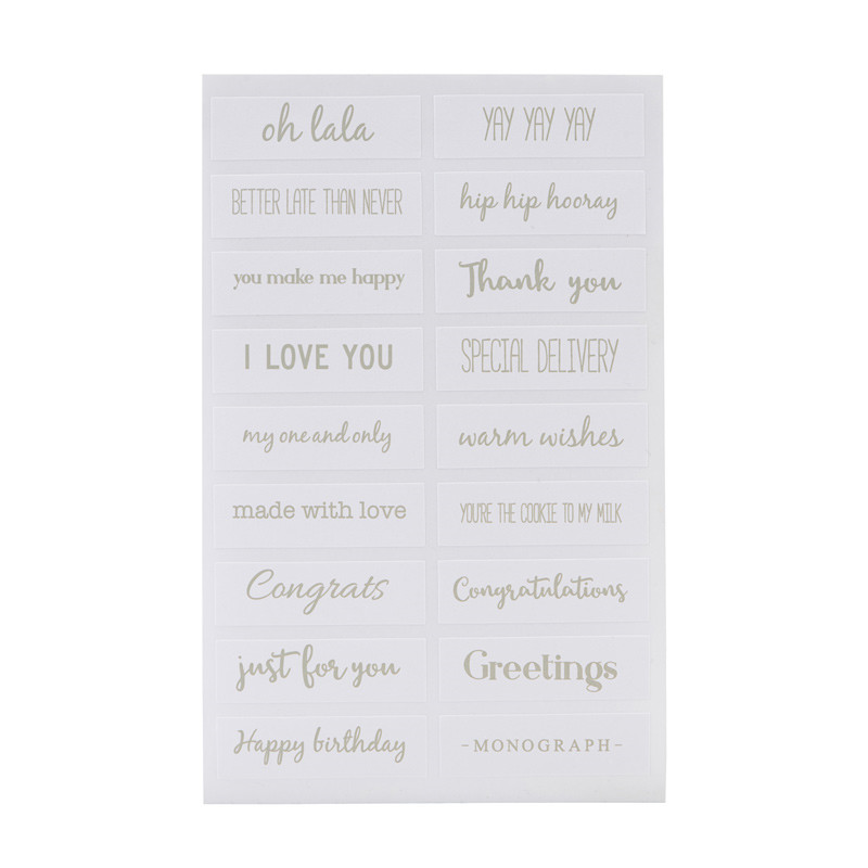 Monograph Quotes Stickers Silver