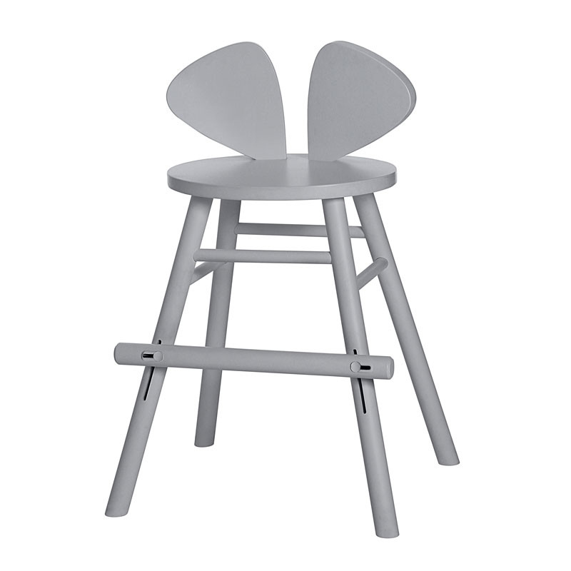 Nofred Mouse Junior High Chair Grey