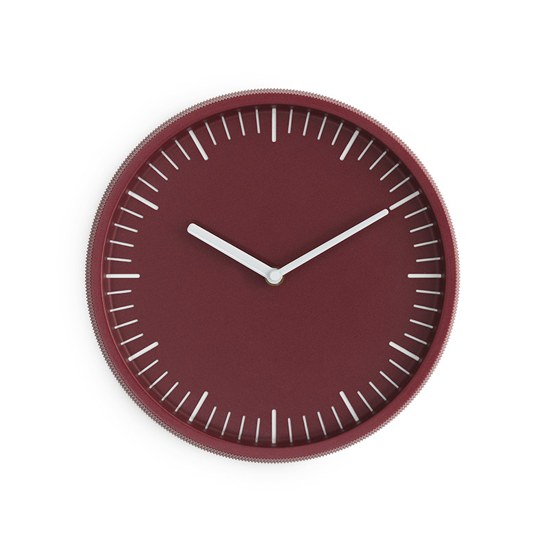 Normann Cph Day Wall Clock Dark Red