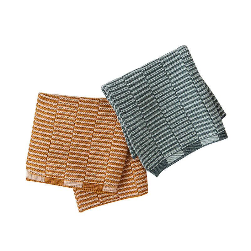 OYOY Stringa Dishcloths Caramel/Rose & Ocean/Minty