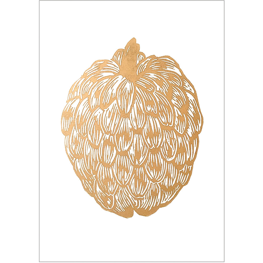 Monika Petersen Gold Cherimoya White A4